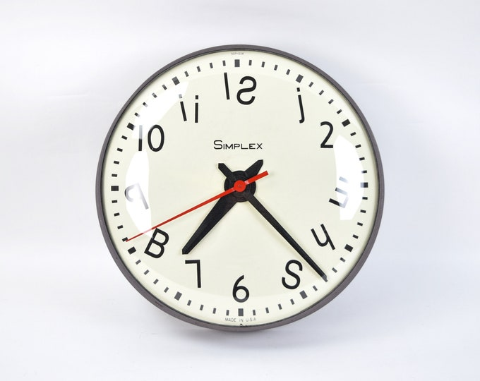 """1991 Woody Holliman """"Simple Time"""" Mixed Media Sculpture Working Clock"""