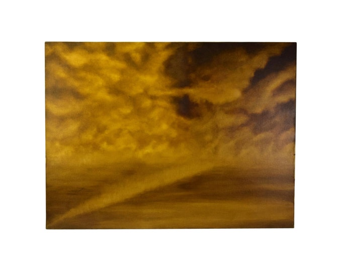 Abstract Sepia-Tone Cloud Painting Skyscape by Chicago Artist Kopala #6