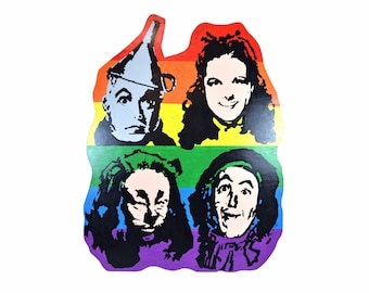 Warholesque Pop Art Oil Painting on Plank The Wizard of Oz Judy Garland etc