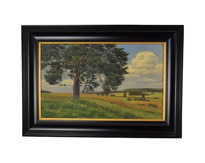 1910 Landscape Oil Painting Signed W. Vittale