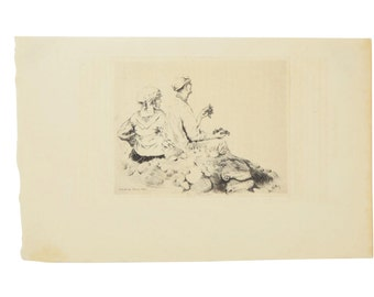 Giuseppe De Nittis Impressionist Etching Route de Castellamare 1876