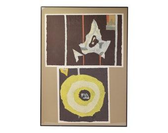 1970's Vintage Modern Abstract Paper Collage #2 Ki Davis Chicago Artist