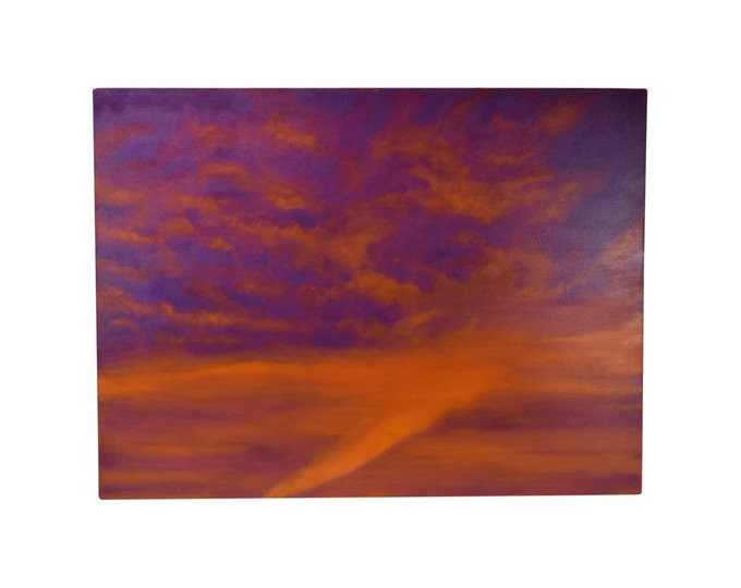 Abstract Orange & Purple Cloud Painting Skyscape Chicago Artist Kopala #7