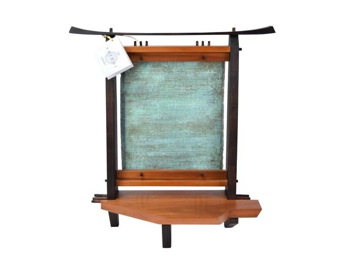 Shibui Japanese Altar Hardwood Sculpture Georgann & Condon Kuhl Maine