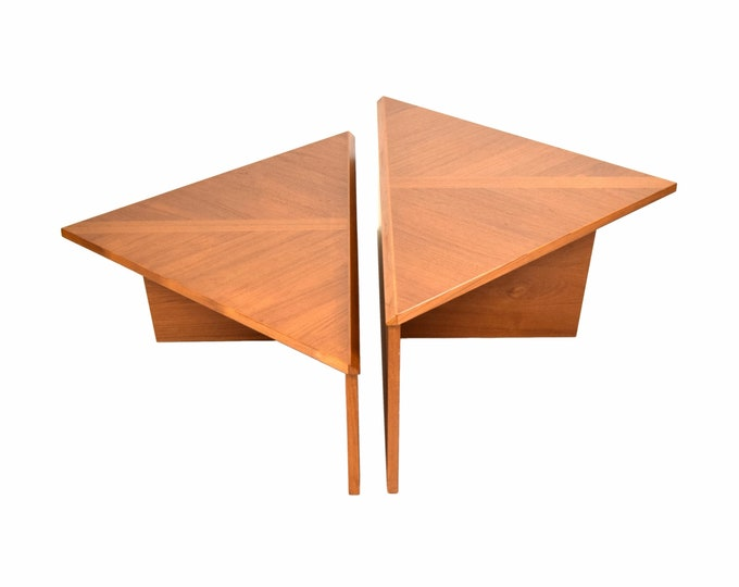 Vintage Danish Modern Triangular Modular Coffee Cocktail Tables Laurits Larsen