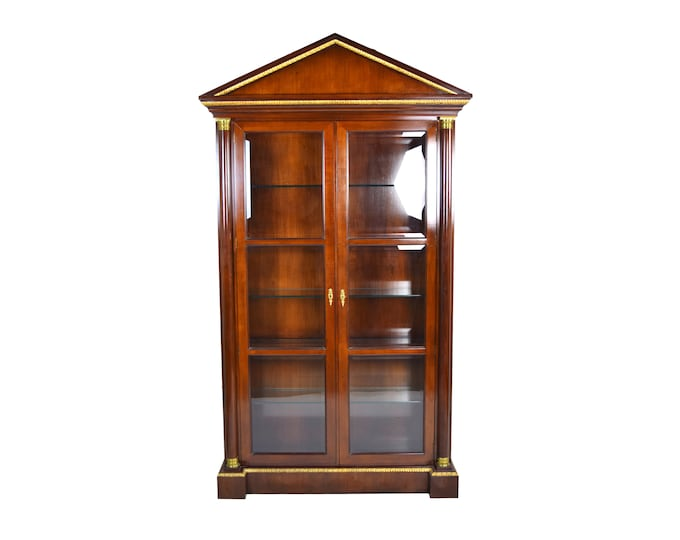 Fine Vintage Baker Furniture Neoclassical Empire Style Curio China Cabinet