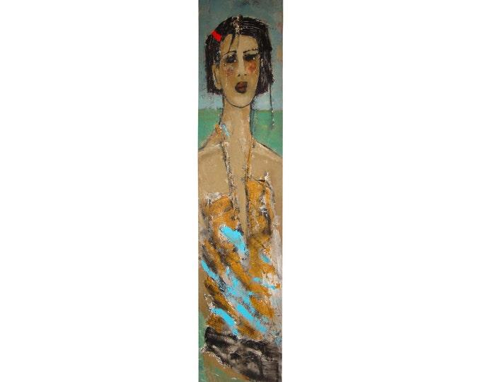 """Painting """"La Barrette Rouge"""" by Paule Lagace Canadian Artist"""