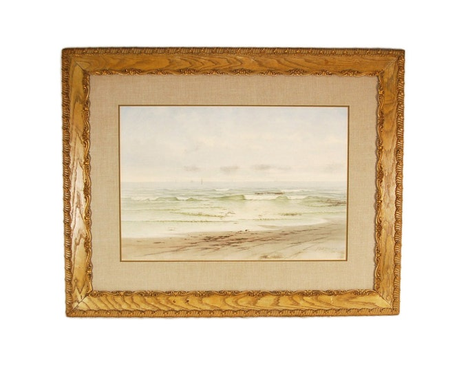 Frederick Debourg Richards New Jersey Shore Seascape American Watercolor Painting