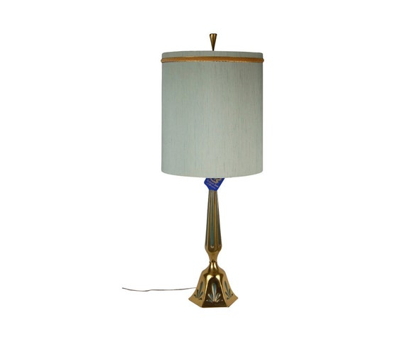 Mid Century Modern Rembrandt Brass Table Lamp Original Tags Etsy