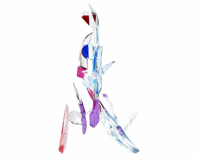 1989 Monumental Michael Plaminek Modern Geometric Abstract Acrylic Sculpture