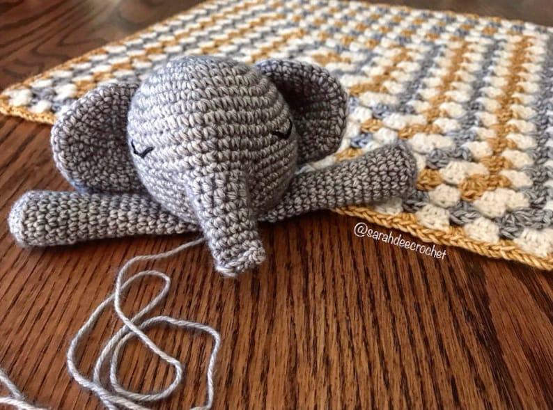 Hans the Elephant Comforter Crochet Amigurumi Pattern