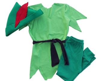 Peter Pan costume, Peter Pan Halloween outfit, Boys Halloween costume, Baby Halloween costume