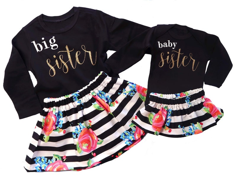c08ee9272 Big Sister Baby Sister Matching Outfits ✓ T Shirt Design 2018