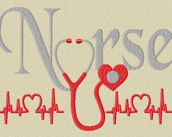 Nurse- A Machine Embroidery for a Nurse or a Future Nurse! (2 sizes)