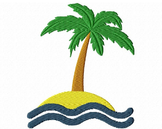 Summer Palm- A Machine Embroidery Download Summer Embroidery Projects (2 Sizes)
