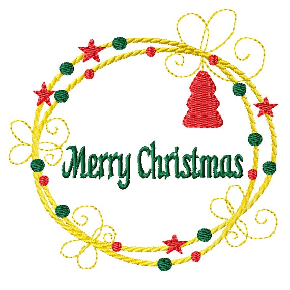 Christmas Rope Wreath -A Machine Embroidery Design for Christmas