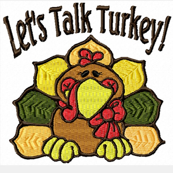 Let's Talk Turkey! -A Machine Embroidery Design for Thanksgiving