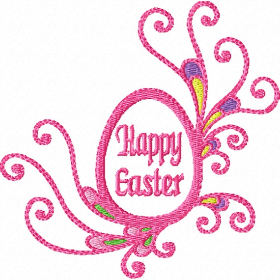 Fancy Easter Egg -A Machine Embroidery Design for Easter