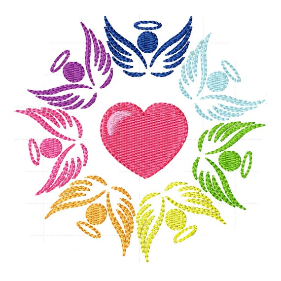 Surrounded by Angels- Machine Embroidery Design