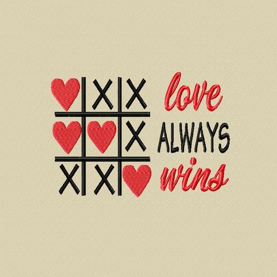 Love Always Wins -A Machine Embroidery Design
