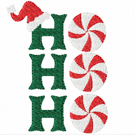 Ho Ho Ho! A Machine Embroidery Design for Christmas