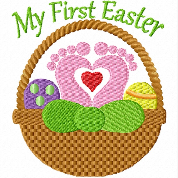 My First Easter -A Machine Embroidery Design for Baby