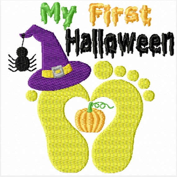 My First Halloween -A Machine Embroidery Design for Baby