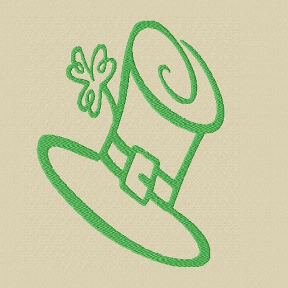 Leprechaun Hat -A Machine Embroidery Design for St. Patrick's Day