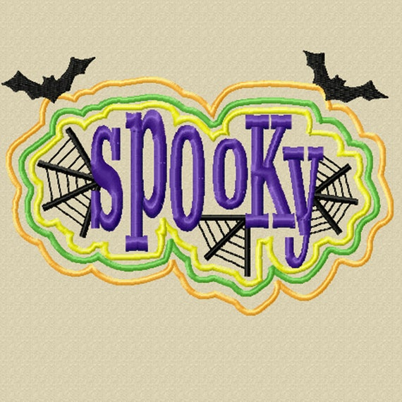 Spooky - A Machine Embroidery Design for Halloween