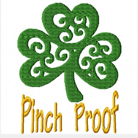 Pinch Proof -A Machine Embroidery Design for St. Patrick's Day