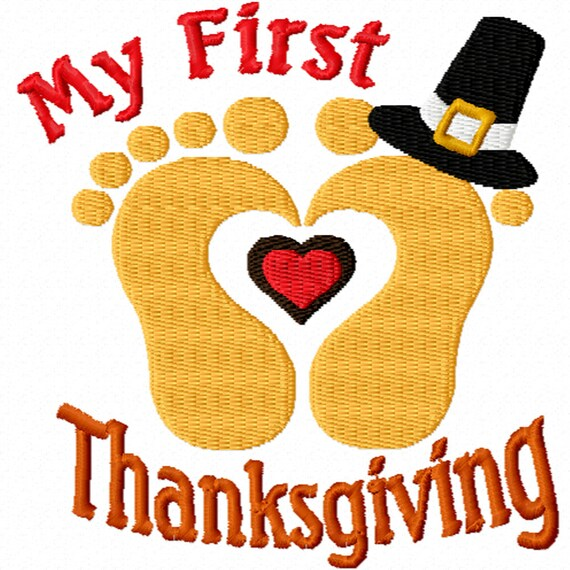 My First Thanksgiving -A Machine Embroidery Design for Baby