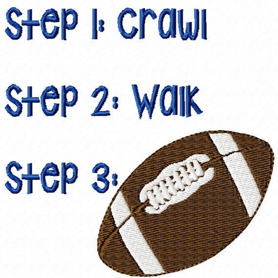 Three Steps to Football -A Machine Embroidery Design for the Future Football Fan