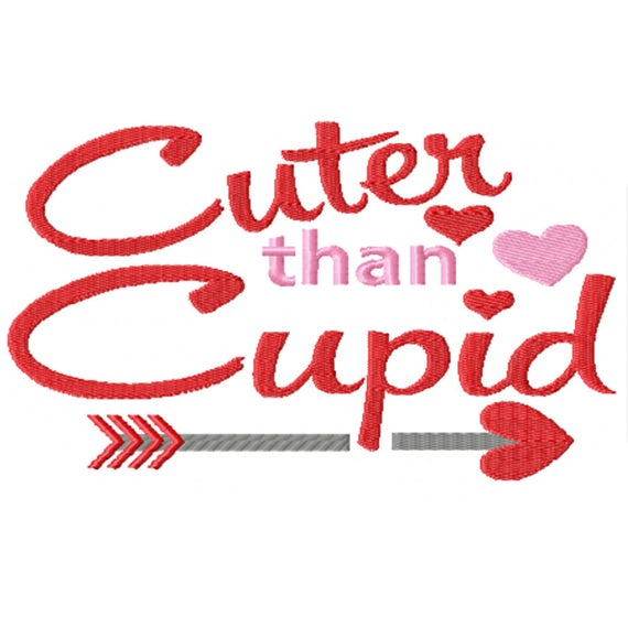 Cuter than Cupid- A Machine Embroidery Design for Valentine's Day