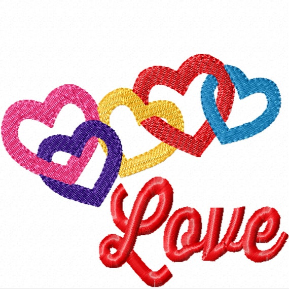 Linked in Love- A Machine Embroidery Design for your Valentine