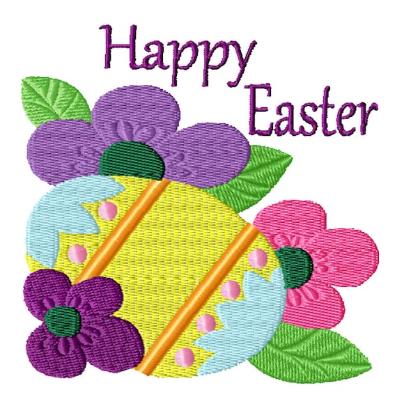 Happy Easter Egg -A Machine Embroidery Design for Easter