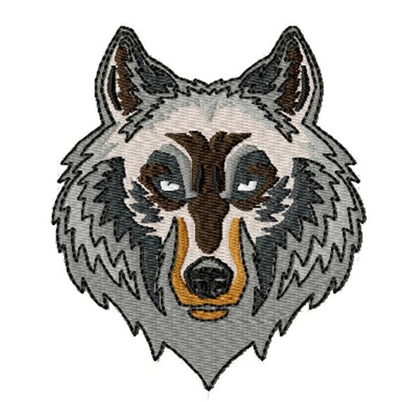 Wolf Head- Machine Embroidery Design