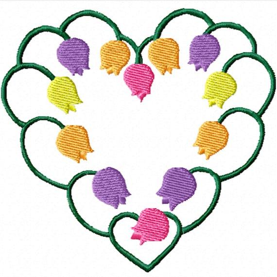 Tulip Love -A Machine Embroidery Design for the Embroidery Machine