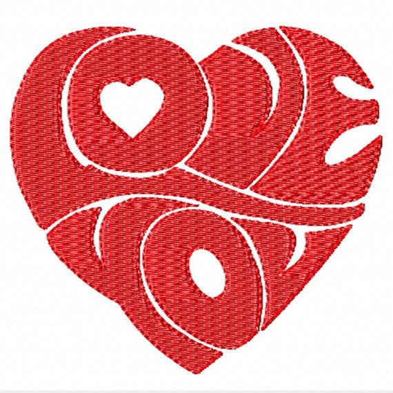 Love You- A Machine Embroidery Design