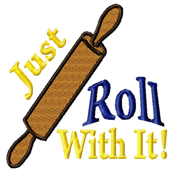 Just Roll With It -A Machine Embroidery Design for the Kitchen