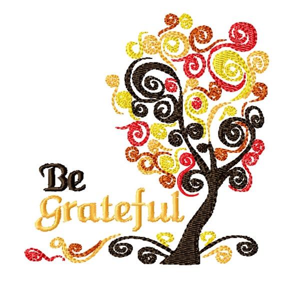 Grateful Tree -Machine Embroidery Design