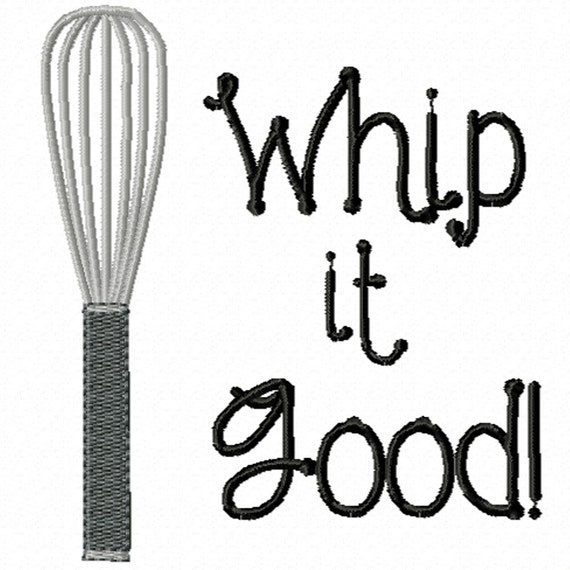 Whip it Good! -A Machine Embroidery Design for the Kitchen