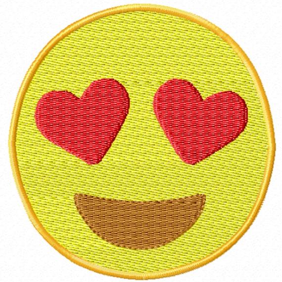 Love Emoji -A Machine Embroidery Design