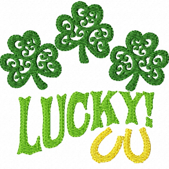 Lucky -A Machine Embroidery Design for St. Patrick's Day