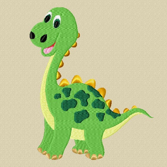 Friendly Dinosaur -A Machine Embroidery Design for the Dinosaur Lover