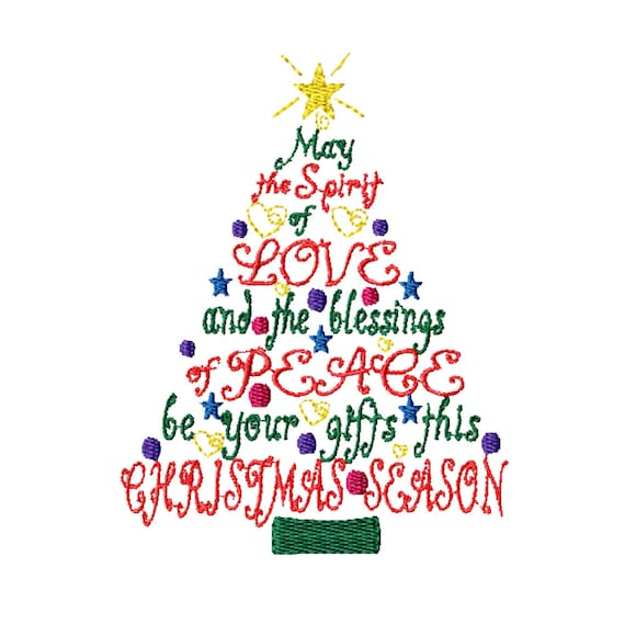 Christmas Gift Tree -Machine Embroidery Design
