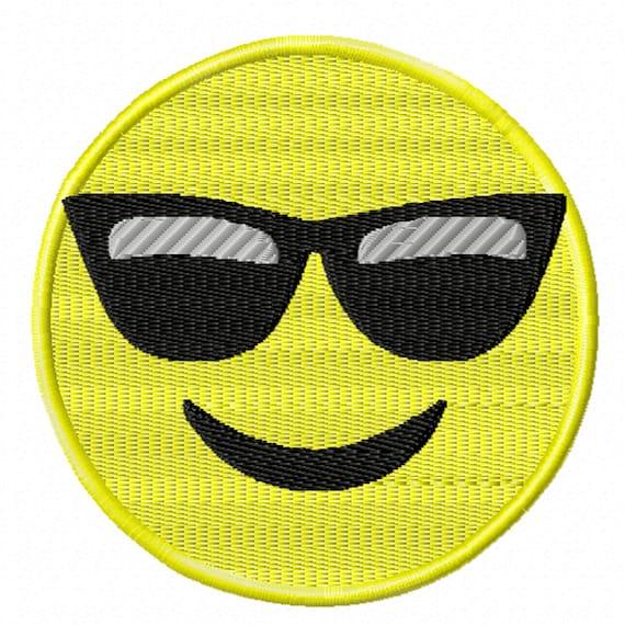 Sunglasses Emoji- A Machine Embroidery Design Featuring a Popular Emoji
