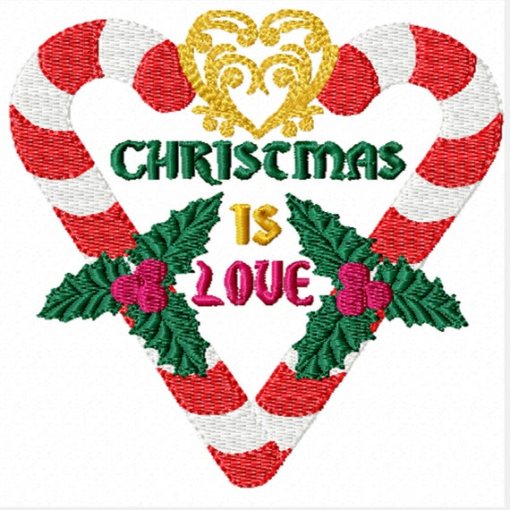 Christmas is Love -A Machine Embroidery Design for Christmas
