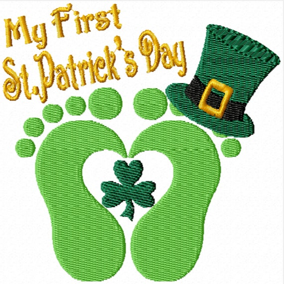 My First St Patrick's Day -A Machine Embroidery Design for Baby's First St.Patrick's Day