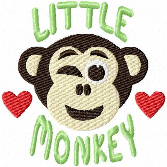Little Monkey -A Machine Embroidery Design for Babies or Toddlers