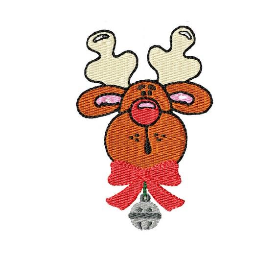 Ringing Reindeer- Machine Embroidery Design